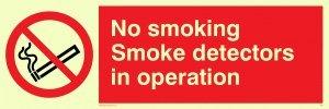 Viking Schilder ps7-l15-pv No Smoking Rauchmelder in Operation Zeichen, Aufkleber, nachleuchtend,...