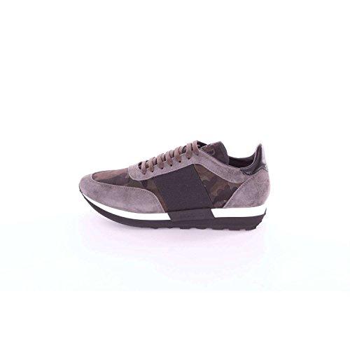 Moncler C209A1019100019CZ Sneakers Uomo Grigio e verde militare