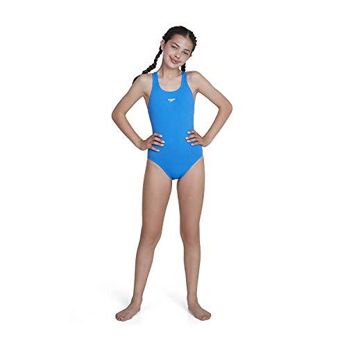 Speedo Endurance  - Bañador para niña, Azul, ES : 10 años