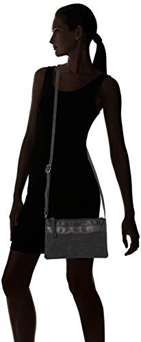 Tamaris - Khema, Borse a tracolla Donna Nero (Black Comb.)