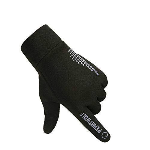 Gnzoe Winter Fahrradhandschuhe Handschuhe Schock Absorption Warm Winddicht Herren Handschuhe Fahrrad One Size Grau -