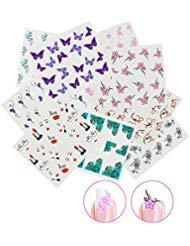 ticker Wrap Wasser Transfer Aufkleber Tattoo Tips Idee als Nail Art/Phone Case/Einladungskarten Dekoration TYP 4 ()