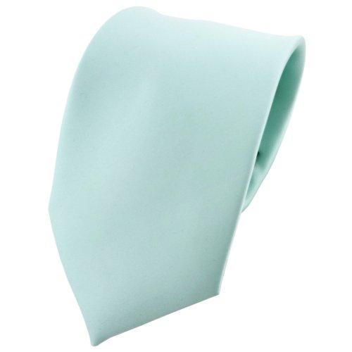 TigerTie Designer Satin Krawatte in helles mint grün einfarbig uni