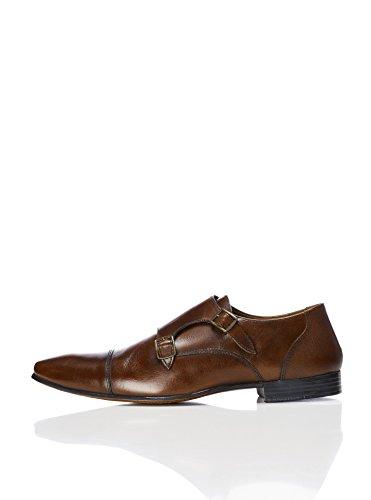 Find. Zapatos estilo Monje de Doble Hebilla para Hombre, Marrón Brown, 42 EU