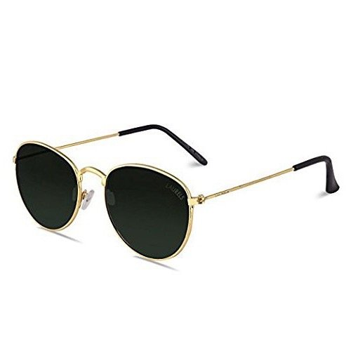 Laurels Royal UV Protected Oval Shaped Unisex Sunglasses (Ls-Ryl-040606|50|Green)