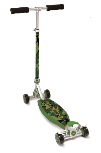 childrens-green-camo-fuzion-sport-4-wheel-push-carving-scooter-for-ages-6-new
