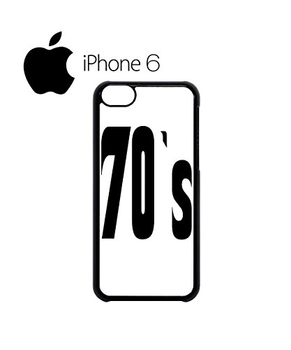 70's Retro Vintage Swag Mobile Phone Case Back Cover for iPhone 6 Black Blanc