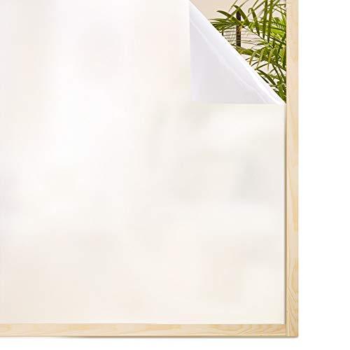 Rabbitgoo Vinilo para Ventana Vinilos Decorativos para Cristal Vinilo de Privacidad con Electricidad Estática Blanco 90 * 200cm