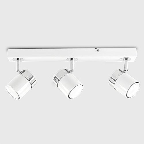 MiniSun-Plafn-de-techo-con-3-focos-Tresor-regleta-de-luz-blanca-brillante-y-cromo