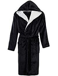 4a75baa461 STONEBRIDGE Mens Luxury Super Soft Men Dressing Gown Hooded Bathrobe