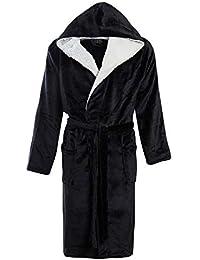 4a75baa461 STONEBRIDGE Mens Luxury Super Soft Men Dressing Gown Hooded Bathrobe