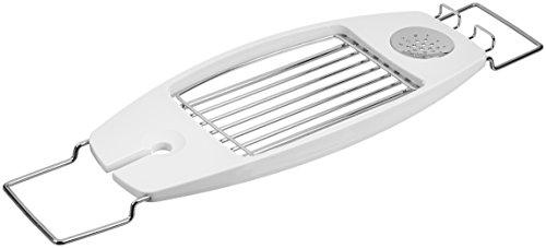 AmazonBasics - Mensola portaoggetti per vasca da bagno, con bracci allungabili, Bianco