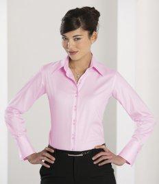 Russell Ladies Ultimate Long Sleeve Shirt Bluse bügelfrei - Baumwolle Popeline Gingham Shirt