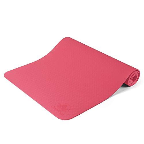 Yogamatte Pilates 72x24 1/2 super Dicker Riemenriemen grau (Color : Rose Pink) (Yoga-matten Männer Für Dick)