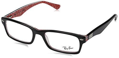 Ray Ban Brillengestell RX5206 2479 52-18 schwarz/rot/weiß