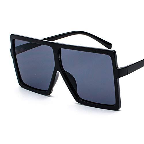 QDE Sonnenbrillen Oversized Sunglasses Women Retro Gradient Sun Glasses Men Vintage Shades Eyewear Big Frame Glasses,Black