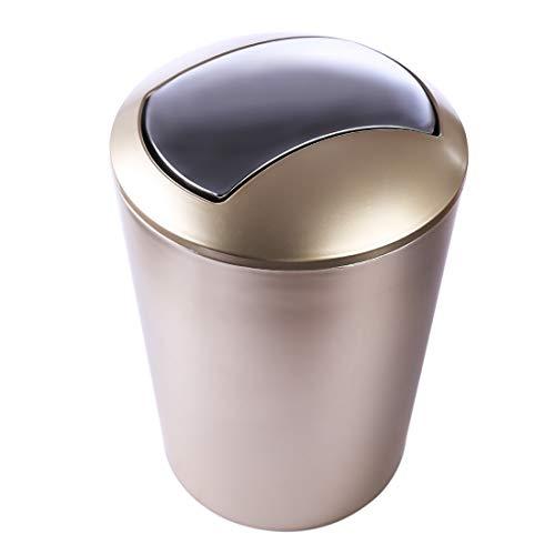 12che 6.5L Trompete Papierkorb Europäischer Stil mit Deckel Abfalleimer Müllsammler Papierkorb für Büro, Badezimmer, Wohnzimmer und Mehr
