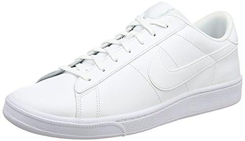 Nike Men Classic Cs Tennis Shoes, White (White/White), 7 UK 41 EU