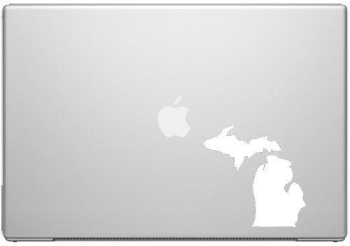 Michigan Großen Seen State Wolverine Spartan Pride Aufkleber Aufkleber-Weiß 12,7cm Vinyl Aufkleber für Autos, MacBooks und Andere Laptops -