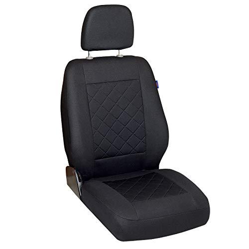 Zakschneider Coprisedile per Opel Movano - Coprisedile Anteriore Sedile del Conducente - Colore Premium Nero a Scacchi
