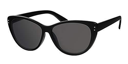 Retro Katzen Eye schwarz Rahmen Sonnenbrille, mit gratis gelb Halskordel