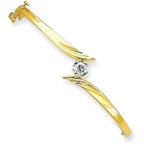 14K Bicolore Oro Diamante Bangle