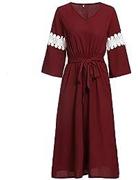 cheaper cbeb0 c96a9 Amazon.it: Maniche Tre Quarti - Rosso / Vestiti / Donna ...