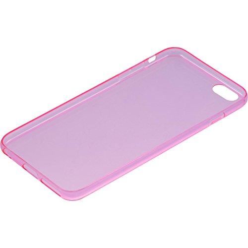 PhoneNatic Case für Apple iPhone 6 Plus / 6s Plus Hülle Silikon blau Slimcase Cover iPhone 6 Plus / 6s Plus Tasche + 2 Schutzfolien Pink