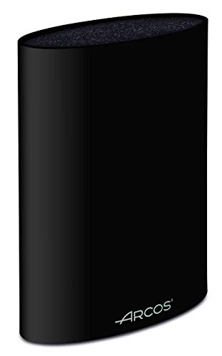Arcos 794500 - Bloque universal para cuchillos hasta 20 cm - Hecho de elastómero termoplástico 220 x 160 x 65 mm - Color negro, acero inoxidable y plástico