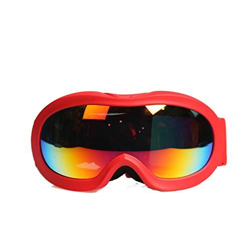 KnBoB Schutzbrillen Für Kinder Skibrille Anti Fog Skibrille Nebel Rot
