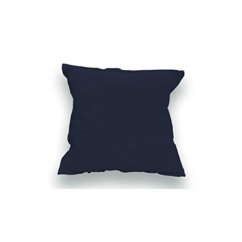 Funda Almohada Lisa algodón 65x65 cm Azul Marino
