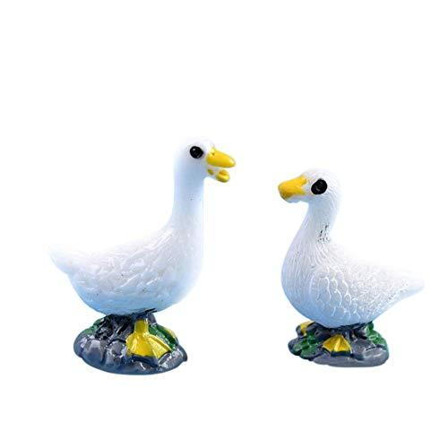 Vektenxi Premium Qualität 2 Teile/Satz Paar Ente Miniatur Landschaft Dekor Garten Bonsai Puppenhaus Ornament -