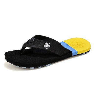 Slippers & amp da uomo;Pistoni di estate lattice casuale piani del tallone Altri Nero Marrone Giallo Walking sandali US9.5 / EU42 / UK8.5 / CN43