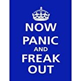SIGNS 2 ALL P2453 Keep Calm and Carry On Now Panic And Freak Out Poster Print