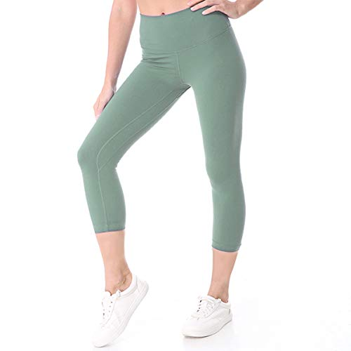 DoGeek Yogahosen für Damen Lang Yogahose Yogapants Highwaist Yoga Hose Pants Baumwolle für Yoga, Fitness, Gym, Gymnastik, Pilates, Leichtathletik, Grün, M - Womens Stretch-baumwolle-yoga Pant