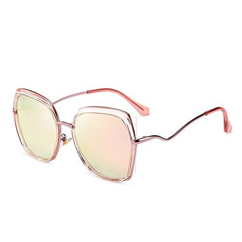 Thirteen Bunte Film Sonnenbrille Weiblich Polarisierten Großen Rahmen Gesicht Kleines Gesicht Retro Brille, Verwendet Für Anti-uv Sonnencreme Dekoration Reise. (Color : Pink)