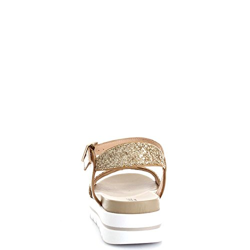 Nero Giardini P717802D Sandali Donna Cuoio/Glitter Oro