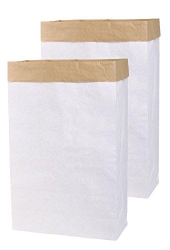 2x DIY Papel Saco Paperbag rectangular papel kraft