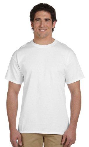 Hanes 5.2 OZ, 50/50 ComfortBlend EcoSmart T-Shirt (5170) Pack of 3-White White