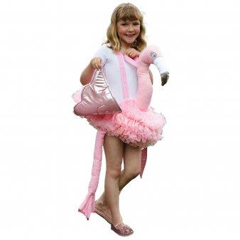 amscan Flamingo Huckepackkostüm für Kinder Karneval rosa Einheitsgröße (Fancy Flamingo Kostüm)