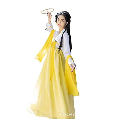 Susichou Kostüm Hanfu Traditionelle Tang Dynastie Kostüm Gans Gelb Fotostudio Foto Kostüm Fairy Dress (L)