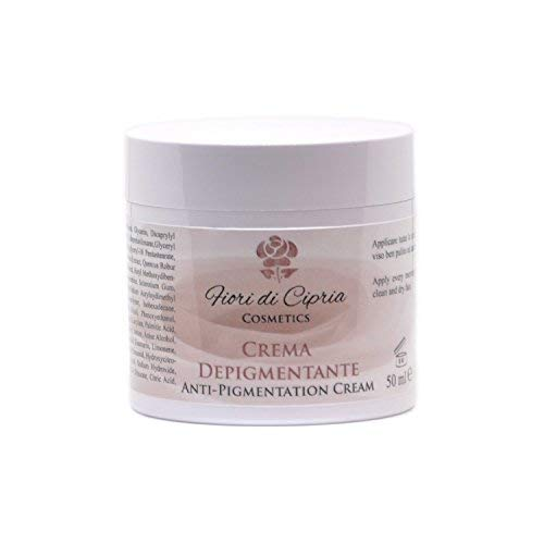 Crema Depigmentante Antimacchie Crema Schiarente Efficace sulle Macchie Scure da iperproduzione di Melanina di qualunque Natura edOrigine. Contiene