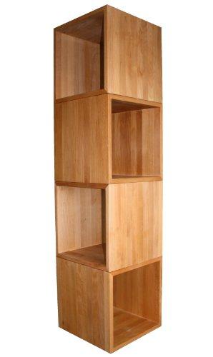 4er-Set Würfel, Kubus ca. 45x45x45cm groß, aus Extra Dickem Buche-Massivholz, Cube, Beistelltisch, Hocker, Echtes Holz - Holz Stapeln Regal