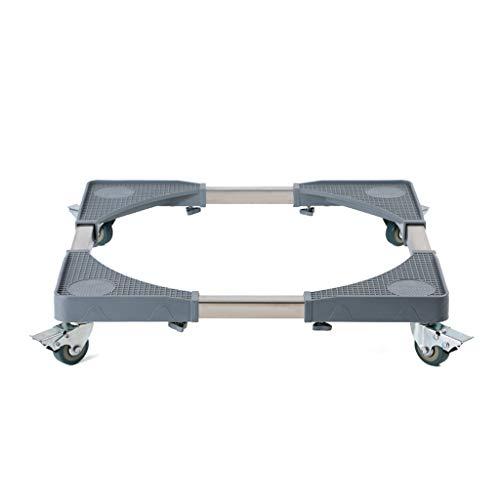 RFJJAL Rectangle Multifunktionsbewegliche justierbare Unterseite mit 4 verriegelnden Gummi-Schwenkrädern Rollen-teleskopischem Möbel-Transportwagen für Kühlschrank, Trockner und Waschmaschine