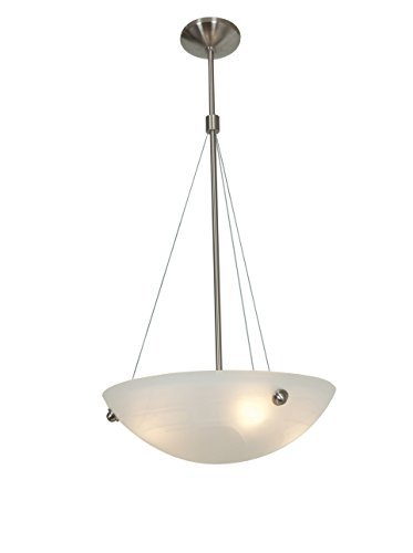 Preisvergleich Produktbild Access Lighting 23072-BS / ALB Noya Four Light 18-Inch Diameter Pendant with Alabaster Glass Shade,  Brushed Steel Finish by Access Lighting