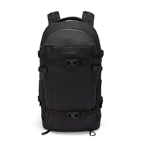 Pacsafe Venturesafe X40 Kamerarucksack für Canon Nikon Sony SLR Spiegelreflexkamera, Fotorucksack mit Diebstahlschutz, Schwarz/Black