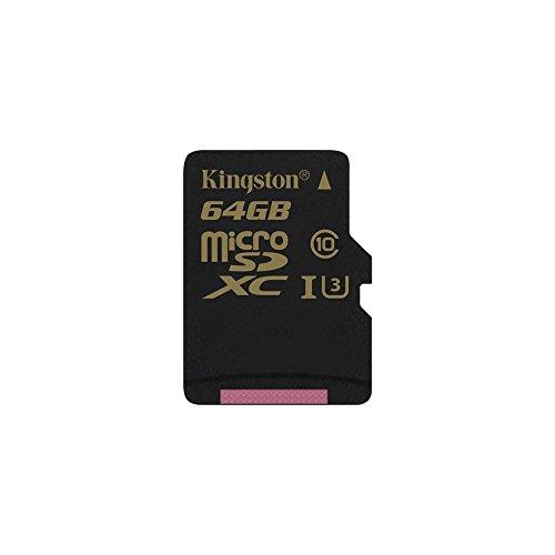 Kingston Gold microSD 64GB Class 3 (U3) Speicherkarte UHS-I Speed