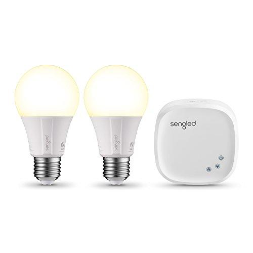Angebot: Sengled Element Classic Smart Led lampe E27 Starter Set, zwei Lampen inkl. Hub, Dimmbar, Warmweißes Licht, Birne 60W, Erweiterung, Steuerbar Via App, kompatibel mit Amazon Alexa, Licht Lampe für nur 36,00 € statt bisher 40,00 € auf Amazon
