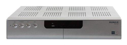 Humax HD Fox CI mit HD+ Karte HDTV Sat Receiver, silber