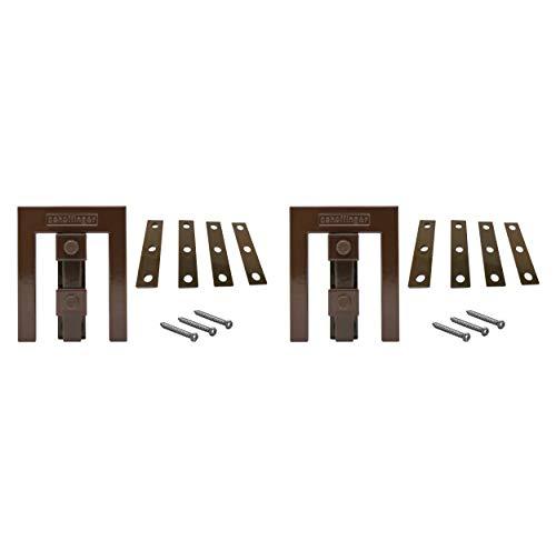 Scheffinger EM3 braun, Fenstersicherung für Fenster oder Türen aus Kunststoff/Holz/Aluminium, Einbruchschutz DIN zertifiziert, hochwertiger massiver Stahl, 2er Set